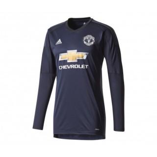 Maillot adidas Gardien Manches Longues Manchester United 2017/18 Bleu