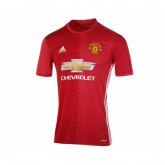 Maillot adidas Manchester United Domicile 2016/17 Rouge