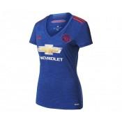 Maillot adidas Manchester United Extérieur 2016/17 Bleu Femme