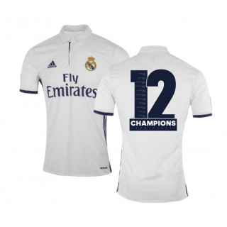 Maillot adidas Real Madrid Domicile 2016/17 Blanc Enfant