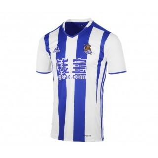 Maillot adidas Real Sociedad Domicile 2016/17 Blanc et Bleu