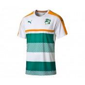 Maillot entraînement Puma Côte d'Ivoire Blanc et Vert