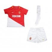 Mini Kit Nike AS Monaco Domicile 2017/18 Rouge et Blanc Enfant