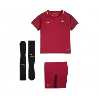 Mini Kit Nike AS Roma Domicile 2017/18 Rouge Enfant