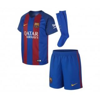 Mini Kit Nike FC Barcelone Domicile 2016/17 Avec Sponsors Bleu et Rouge