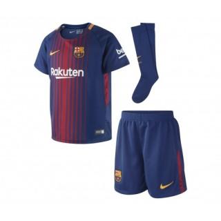 Mini Kit Nike FC Barcelone Domicile 2017/18 Bleu Enfant