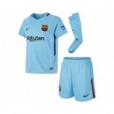 Mini Kit Nike FC Barcelone Extérieur 2017/18 Bleu Enfant