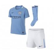 Mini Kit Nike Manchester City Domicile 2017/18 Bleu Enfant