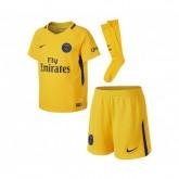 Mini Kit Nike Paris Saint-Germain Extérieur 2017/18 Jaune Enfant