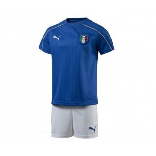 Mini Kit Puma Italie Domicile 2016/17 Bleu et Blanc Kit Maillot + Short