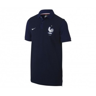 Polo Slim Authentic FFF Bleu Enfant