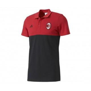 Polo adidas Milan AC Noir et Rouge