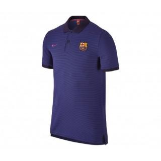 Polo slim Nike Authentic FC Barcelone Bleu