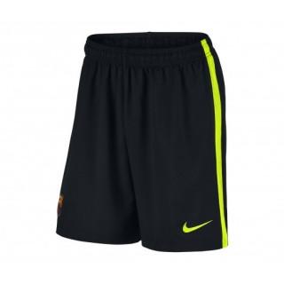 Short Gardien Nike FC Barcelone Domicile 2016/17 Noir Enfant
