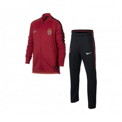 7da95a59b66ac Acheter des Nouveau Survêtement Nike AS Monaco Squad Rouge et Noir ...