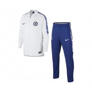 Survêtement Nike Chelsea Squad Blanc et Bleu Enfant