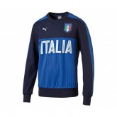 Sweat-shirt Fan Italie Bleu