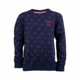 Sweat-shirt Paris Saint-Germain Tour Eiffel Bleu Enfant