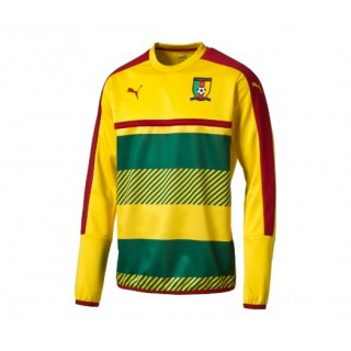 Sweat-shirt Puma Cameroun Jaune Vert et Rouge