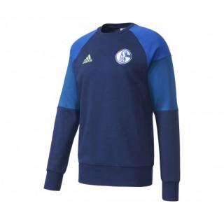 Sweat-shirt adidas Schalke 04 Bleu