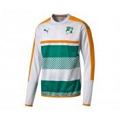 Sweat-shirt entraînement Puma Côte d'Ivoire Blanc et Vert