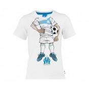 T-Shirt Olympique de Marseille Cartoon 13 Blanc Enfant