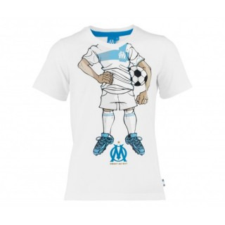 T-Shirt Olympique de Marseille Cartoon 13 Blanc Enfant