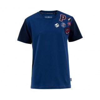 T-Shirt Paris Saint-Germain Badges Bleu Enfant