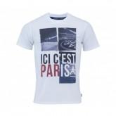 T-Shirt Paris Saint-Germain Ici c'est Paris Blanc