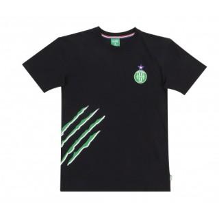 T-shirt AS St-Etienne Griffe Noir