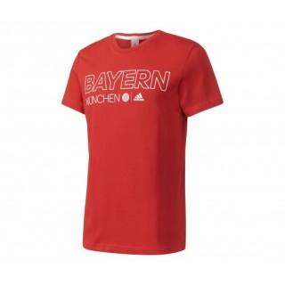 T-shirt Collegiate adidas Bayern Munich Rouge