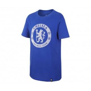 T-shirt Crest Nike Chelsea Bleu Enfant