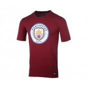 T-shirt Crest Nike Manchester City Rouge