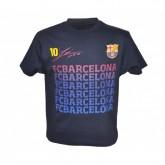 T-shirt FC Barcelone Messi Bleu Enfant