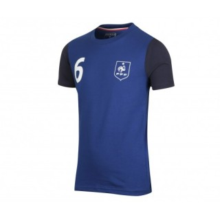 T-shirt France FFF Pogba Bleu Enfant