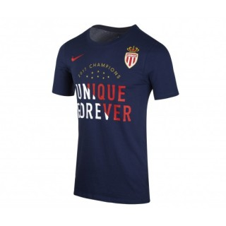 T-shirt Nike AS Monaco Champions Bleu