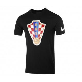 T-shirt Nike Crest Croatie Noir