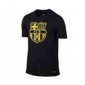 T-shirt Nike Crest FC Barcelone Noir