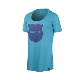 T-shirt Nike FC Barcelone Bleu Femme