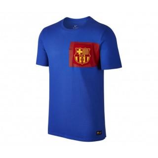 T-shirt Nike FC Barcelone Crest Bleu