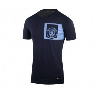 T-shirt Nike Manchester City Crest Bleu