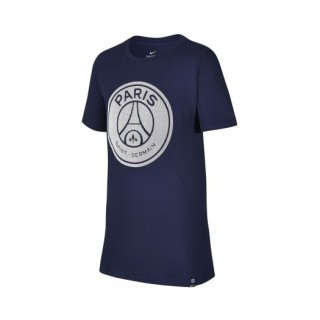 T-shirt Nike Paris Saint-Germain Crest Bleu Enfant