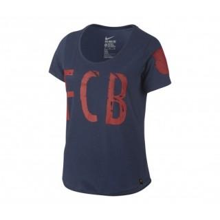 T-shirt Nike équipe FC Barcelone Bleu Femme