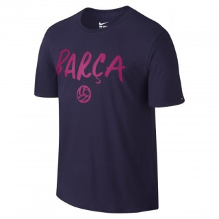T-shirt Nike équipe FC Barcelone Violet/Rose