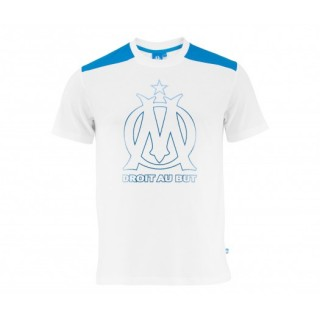 T-shirt Olympique de Marseille Big Logo Blanc Enfant
