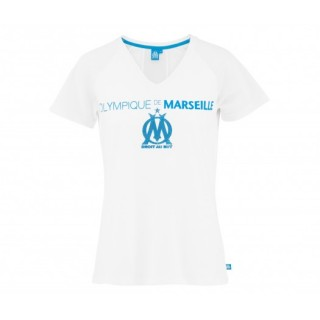 T-shirt Olympique de Marseille Blanc Femme