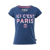 T-shirt Paris Saint-Germain Bleu Femme