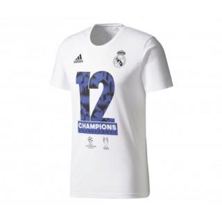 T-shirt Real Madrid Vainqueur UEFA Champions League 2017 Blanc Enfant