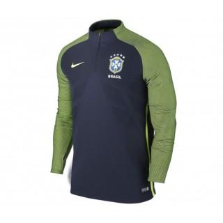 Training Top Nike Brésil Drill Bleu et Vert