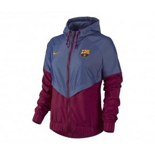 Veste FC Barcelone Rouge et Bleu Femme